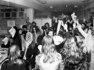 Dolle Mina's vallen Margriet binnen, 1970