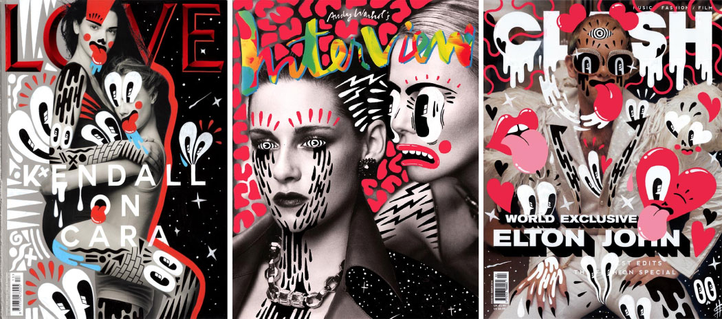 Hattie Stewart Doodle Bombs magazine covers
