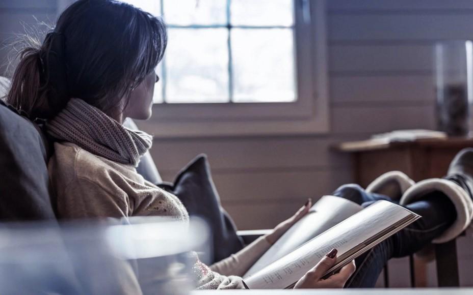 Girl Reading Magazine Wallpaper