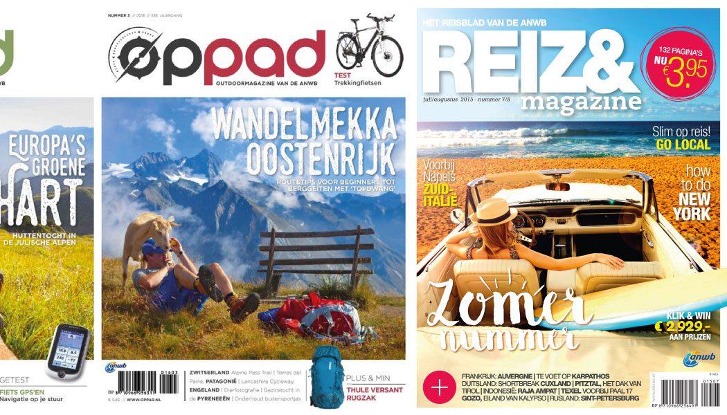 ANWB magazines Reizen en Oppad stoppen