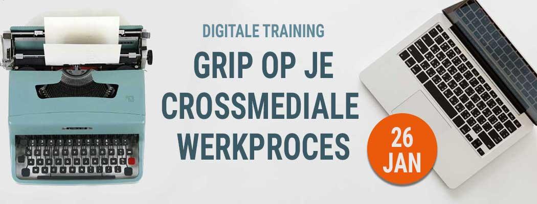 Op 26 januari organiseer team Bladendokter een digitale training voor redacties: Grip op Crossmedia. Over werkprocessen, content atomisatie en crossmediale kalenders.