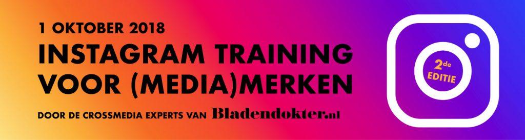 instagram training media bladendokter oktober 2018