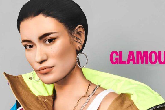 Glamour heeft een virtueel model op de cover
