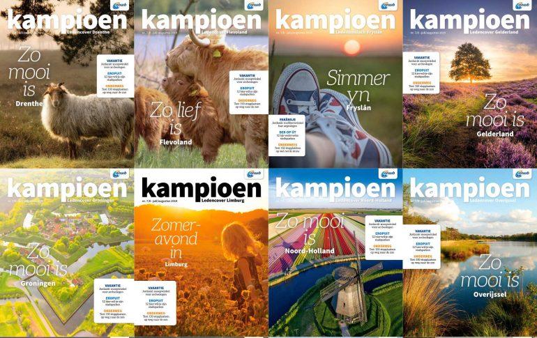 Kampioen 2019 lanceert 12 cover over de mooiste plekjes van Nederland