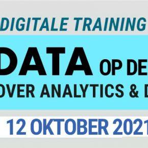 Op 12 oktober geeft Bladendokter een digitale training over data op de redactie. Inzicht in analyse, het succes van content en data gedreven werkwijze voor redacties.