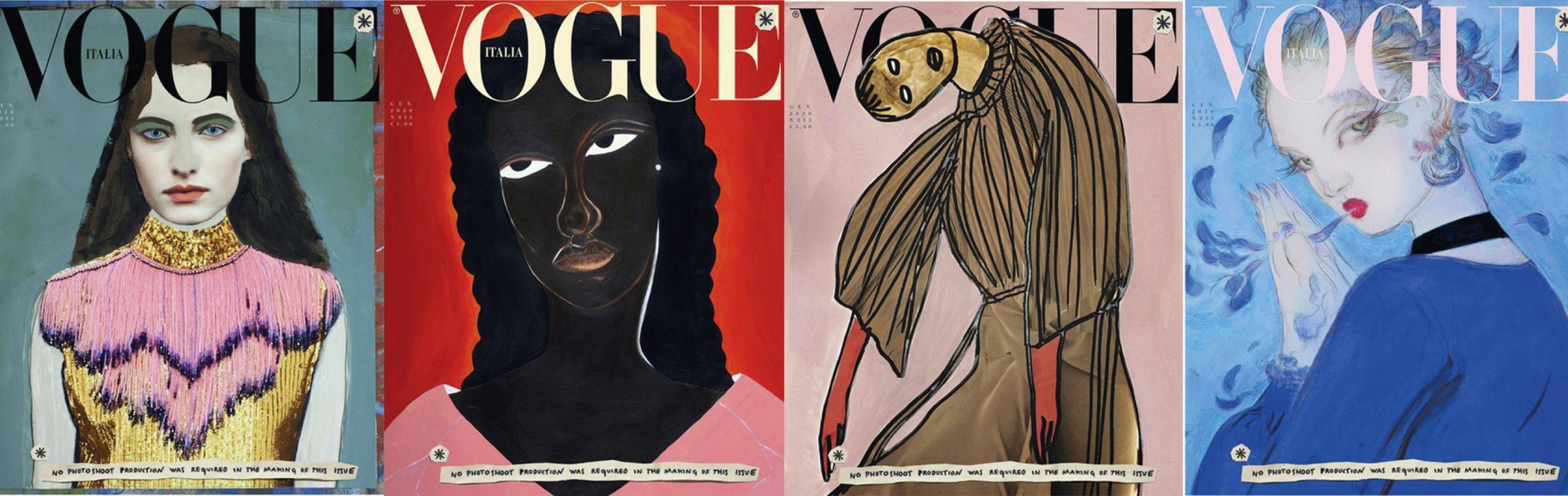 Vogue Italia lanceert in jan 2020 een editie zonder fotografie