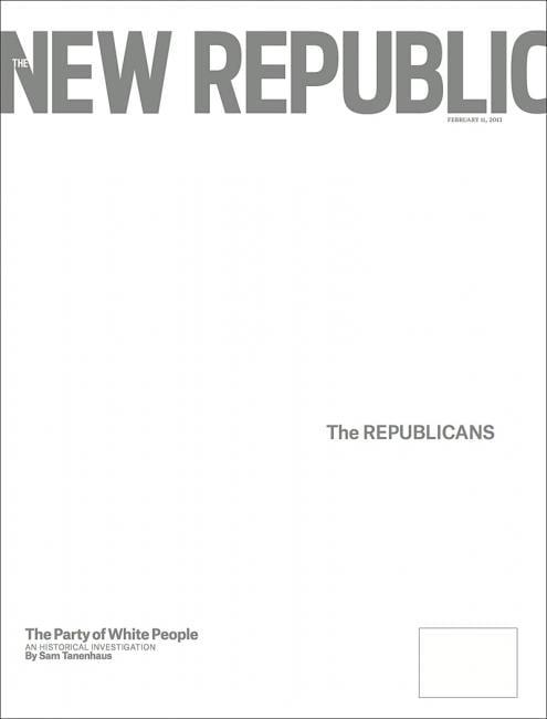 Cover new republic