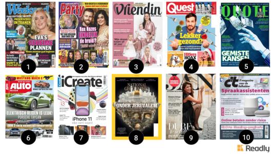 populaire bladen op Readly in Nederland