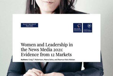 slechts 22% van hoofdredacteuren bij nieuwsmedia is vrouw.