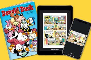 Donald Duck lanceert een app, waar lezers strips ne moppen digitaal kunnen lezen.